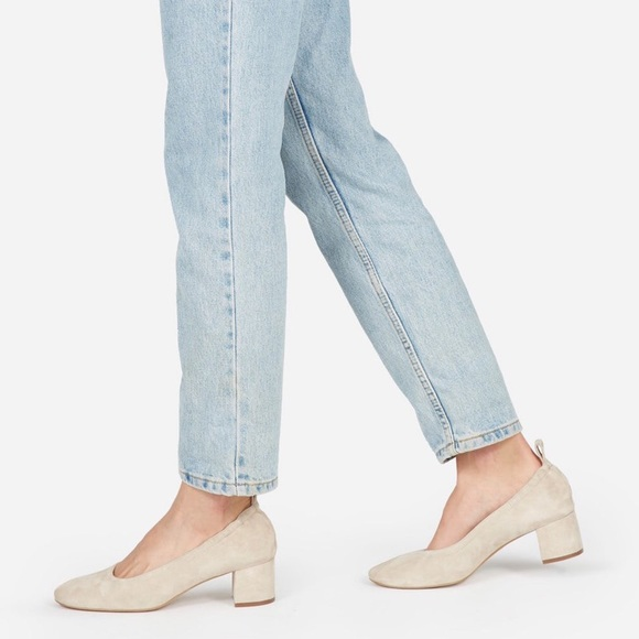 new list fresh styles purchase authentic Everlane Natural Suede Day Heel - Ballet Toe - 9.5
